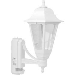 ASD ASD Coach Lantern Polycarbonate 100W BC White PIR - 54323 - from Toolstation