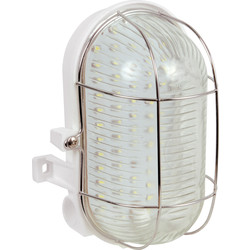 Meridian Lighting LED IP44 4W Oval Bulkhead 310lm - 54332 - from Toolstation