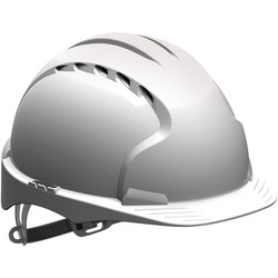 EVO3 OneTouch Slip Ratchet Vented Safety Helmet White