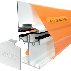 Alukap Alukap-SS Self Support Wall Bar White 4800mm - 54385 - from Toolstation