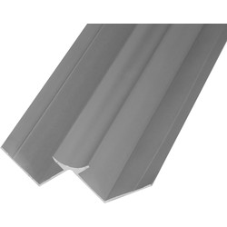 Mermaid Mermaid Laminate Shower Wall Panel Trims Anodised Aluminium Internal Corner - 54418 - from Toolstation