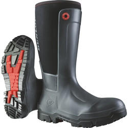 Dunlop Dunlop Snugboot Workpro Safety Wellington Black Size 12 - 54420 - from Toolstation