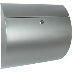 Burg Wachter Toscana Stainless Steel Post Box H322 x W362 x D100 - 54473 - from Toolstation