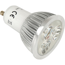 LED 3W Lamp GU10 Cool White 200lm 38° - 54560 - from Toolstation