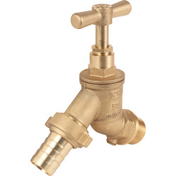 "Hose Union Bib Tap with Double Check Valve 1/2"" DZR - 54792 - from Toolstation"