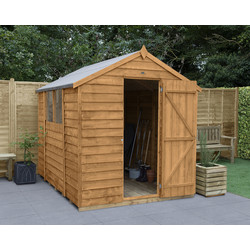 Forest Forest Garden Overlap Dip Treated Apex Shed 8' x 6' - 54975 - from Toolstation