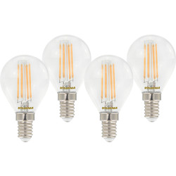 Sylvania Sylvania LED RT Filament Mini Globe Lamp 4.5W SES (E14) 470lm - 55045 - from Toolstation