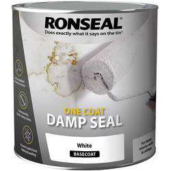 Ronseal Ronseal One Coat Damp Seal Paint 2.5L White - 55120 - from Toolstation