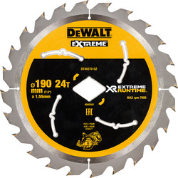 DeWalt DeWalt Extreme Runtime Circular Saw Blade 190mm x Diamond Bore x 24T - 55124 - from Toolstation