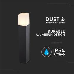 V-TAC GU10 Black Aluminium Outdoor Light IP54