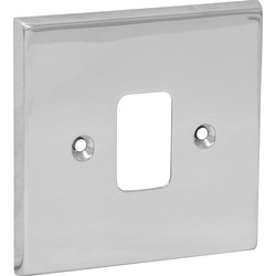 Axiom Grid Front Plate Polished Chrome 1 Gang - 55302 - from Toolstation