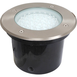 LED 3.9W Round Ground Light IP67 12V AC White - 55361 - from Toolstation