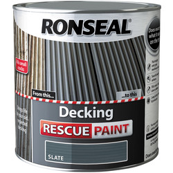 Ronseal Ronseal Decking Rescue Paint 2.5L Slate - 55397 - from Toolstation