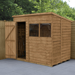 Forest Forest Garden Overlap Dip Treated Shed 7' x 5' - 55415 - from Toolstation