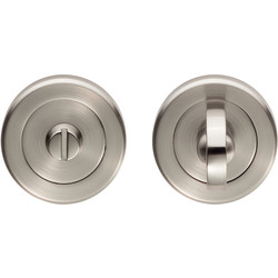 Serozzetta Serozzetta Turn & Release On Round Rose Satin Nickel - 55464 - from Toolstation