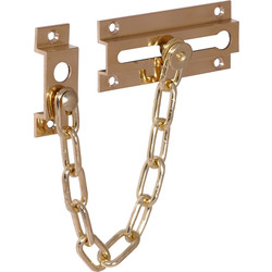 Unbranded Door Chain Brass Plated - 55479 - from Toolstation
