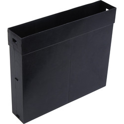 Vertical Sleeve Black - 55486 - from Toolstation