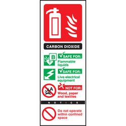Fire Extinguisher Sign Carbon Dioxide - 55572 - from Toolstation
