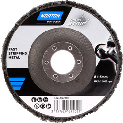 Norton Norton Rapid Strip Rust Abrasive Disc 115mm - 55639 - from Toolstation