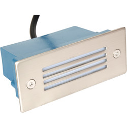 LED 1W Rectangular Wall Light 230V IP54 Blue - 55679 - from Toolstation