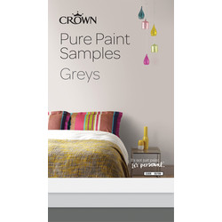 Crown Breatheasy Pure Paint Samples Greys
