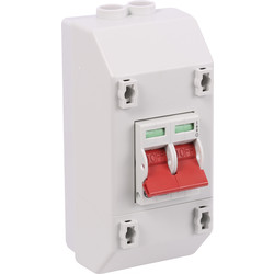 Wylex Wylex 2 Pole Isolator Switch With Enclosure 100A - 55771 - from Toolstation