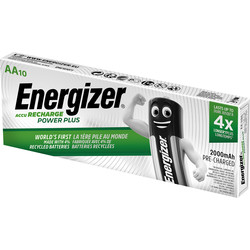 Energizer Energizer Rech AA 2000mAh DP10 AA - 55777 - from Toolstation