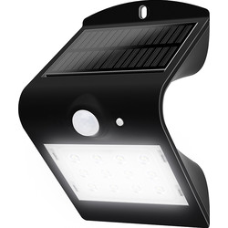 Luceco Luceco SOLAR Guardian 1.5W PIR Wall Light IP65 Black 220lm - 55970 - from Toolstation