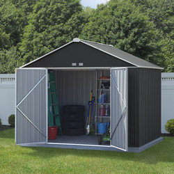 Rowlinson Rowlinson Metal Ezee Shed Grey 10' x 8' - 55982 - from Toolstation