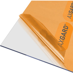 Axgard Axgard 3mm Polycarbonate Clear Impact Resisting Glazing Sheet 620 x 2500mm - 55992 - from Toolstation
