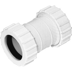 Aquaflow Compression Straight Coupling 32mm - 56109 - from Toolstation