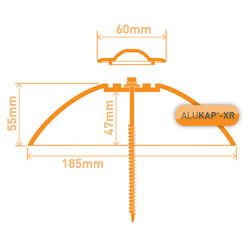 Alukap-XR Radius End Cap