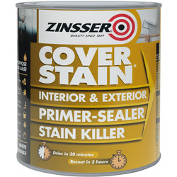Zinsser Zinsser Cover Stain Primer Paint White 500ml - 56164 - from Toolstation