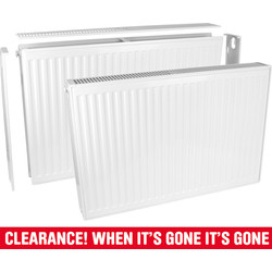 Qual-Rad Type 22 Double-Panel Double Convector Radiator 300 x 600mm 1769Btu - 56174 - from Toolstation