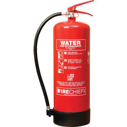 Fire Chief Firechief Water Fire Extinguisher 9L Rating 21A - 56210 - from Toolstation