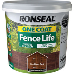 Ronseal Ronseal One Coat Fence Life 5L Medium Oak - 56211 - from Toolstation