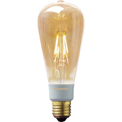 Sylvania Sylvania LED Filament Effect Golden Dimmable ST64 Lamp 5.5W ES 360lm A++ - 56241 - from Toolstation