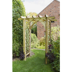 Forest Forest Garden Ultima Pergola Arch 245cm (h) x 182cm (w) x 136cm (d) - 56356 - from Toolstation