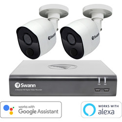 Swann Security Swann 1080P Full HD DVR Security System 4 Channel 2 Camera - 56413 - from Toolstation
