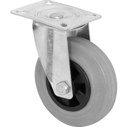 MOVE IT Swivel Wheel Castor 100mm 70kg - 56461 - from Toolstation