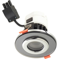 Sensio Sensio Trio Tone 8W Integrated Dimmable Fire Rated Downlight IP65 Circa Tinted Black 700lm - 56545 - from Toolstation