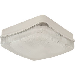 Fern Howard Fern Howard Trojan Square HF 28W 2D IP65 Bulkhead White Clear - 56547 - from Toolstation