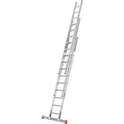 Lyte Domestic Extension ladder 3 section, Closed Length 3.3m