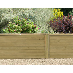 Forest Forest Garden Pressure Treated Horizontal Tongue And Groove Fence Panel 6' x 4' - 56653 - from Toolstation