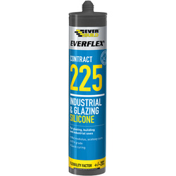 Everbuild Glazing Silicone 310ml Black - 56739 - from Toolstation