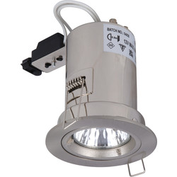 Meridian Lighting Fire Rated Cast Downlight MR16 Satin Chrome - 56860 - from Toolstation