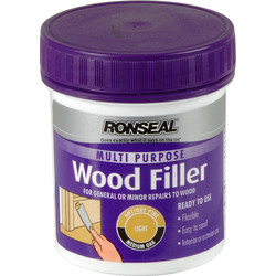 Ronseal Ronseal Multi Purpose Wood Filler 250g Light - 56923 - from Toolstation
