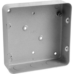 MK Grid Metal Flush Back Box 6-8 Gang With Knockouts