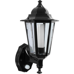 Green Lighting P-Lux 8W LED Photocell & PIR Coach Lantern Black - 56948 - from Toolstation