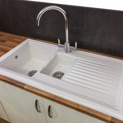 Reginox Reversible Ceramic Kitchen Sink & Drainer